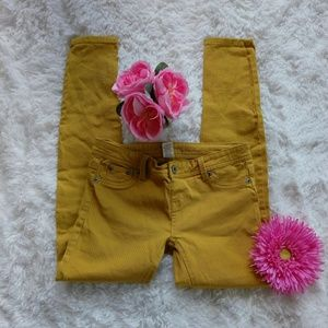 Wey seal skinny jeans mustard color size M